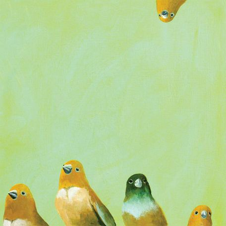 """Family of Feathers"" by Mincing Mockingbird Painting Print on Wrapped Canvas"