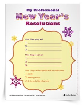 My Professional New Year S Resolutions Worksheet New Year S Resolutions For Teachers Can Be Tricky Its New Years Resolution Printable Worksheets New Teachers