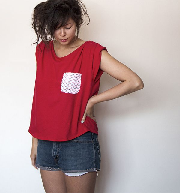 How to sew a pocket on a tshirt A DIY Fashion project