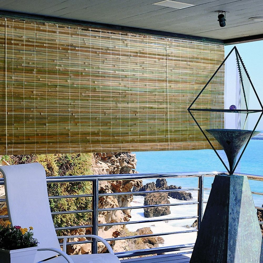 Bamboo Window Shade Roll Up Blind Natural Roman Outdoor Curtain Radiance Screens Outdoor Blinds Blinds Blinds Design