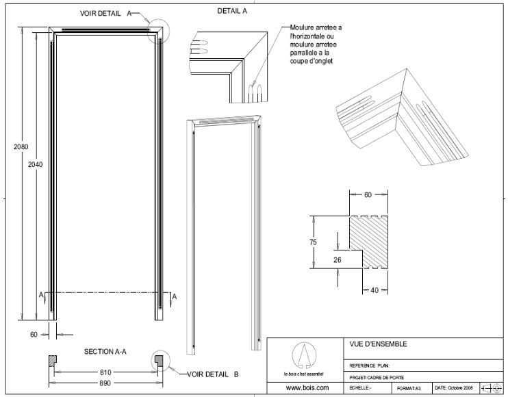cadre de porte en bois t m v i google 06 sketchup. Black Bedroom Furniture Sets. Home Design Ideas