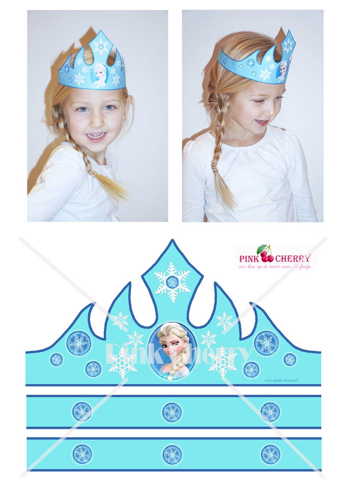 Frozen Crown Elsa Kroontje Als Printable Bij Pink Cherrynl
