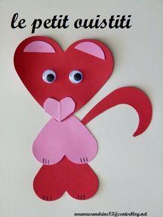 Activit manuelle saint valentin coeur animaux activit manuelle saint valentin et manuel - Activite manuelle st valentin ...