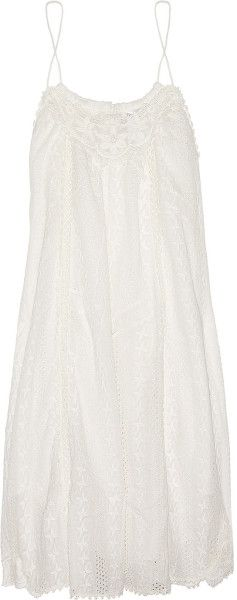 Devoted Broderie Anglaise Cotton Dress - Lyst