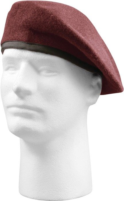 7ea880f3 Maroon Military Inspection Ready US Army Airborne No Flash Beret Hat ...