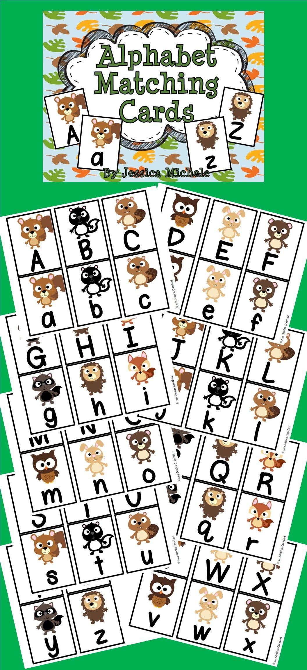 Alphabet Matching Cards Woodland Animal Theme