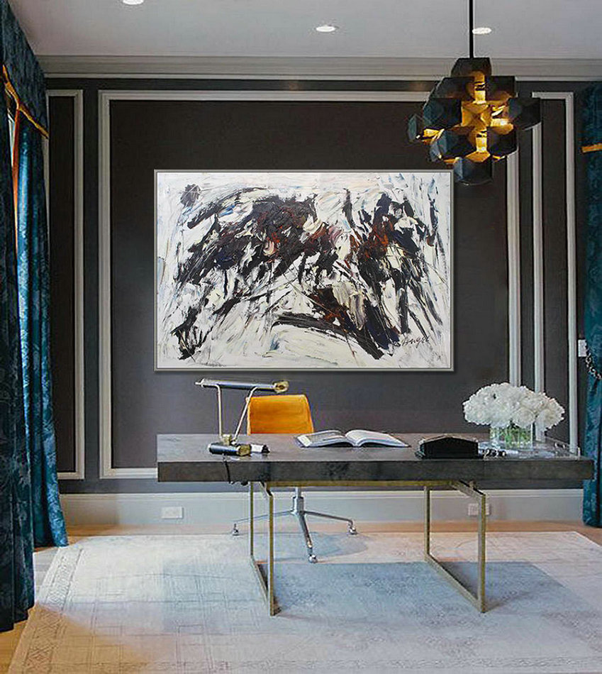 Abstract Painting On Canvas Extra Large Wall Art Contemporary Art Oilpaintingcenter In 2020 Large Wall Decor Wall Decor Extra Large Canvas Art