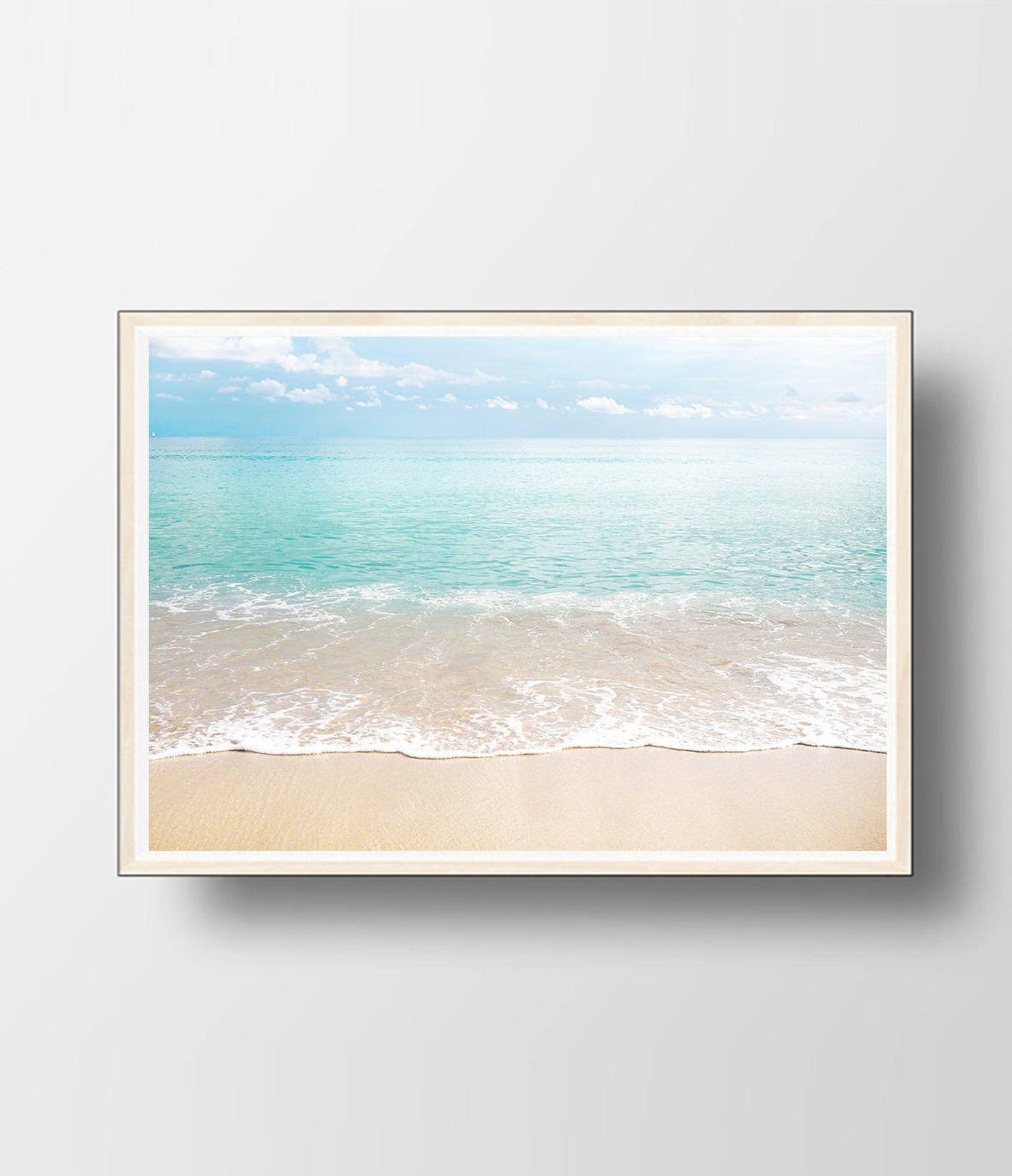 Ocean Print Ocean Wall Art Beach Decor Ocean Decor Beach Wall
