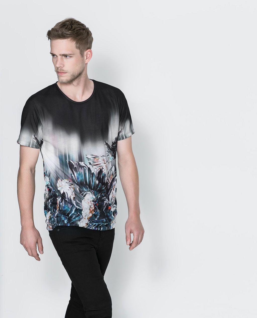 71d262f23 ZARA - HOMBRE - CAMISETA ESTAMPADA | Elegant Mens | Camisetas ...