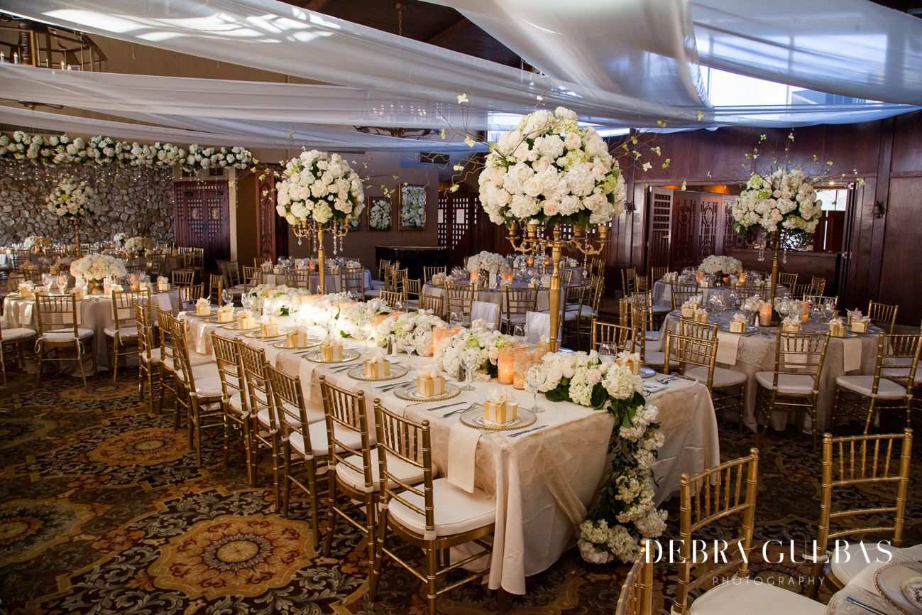 white and gold wedding details, weddings at Coronado Country Club ...