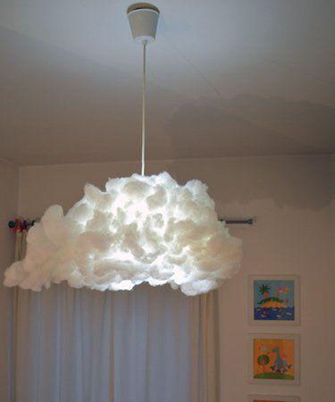 Lampadario Ikea VARMLUFT trasformato in soffice nuvola ...