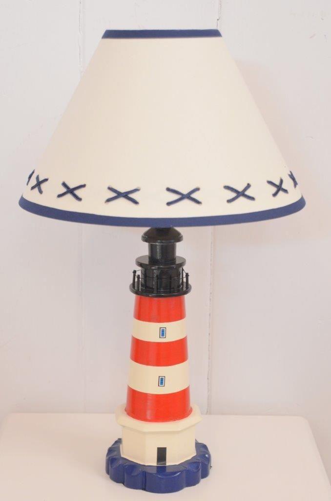 Striped Lighthouse Lamp Farol