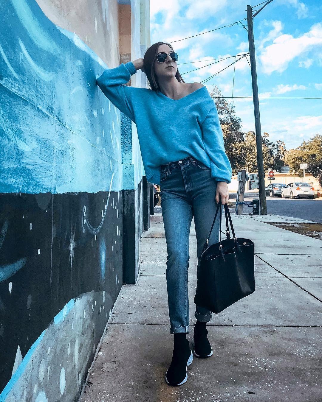 2993afd87cbf74 H M Blue Sweater