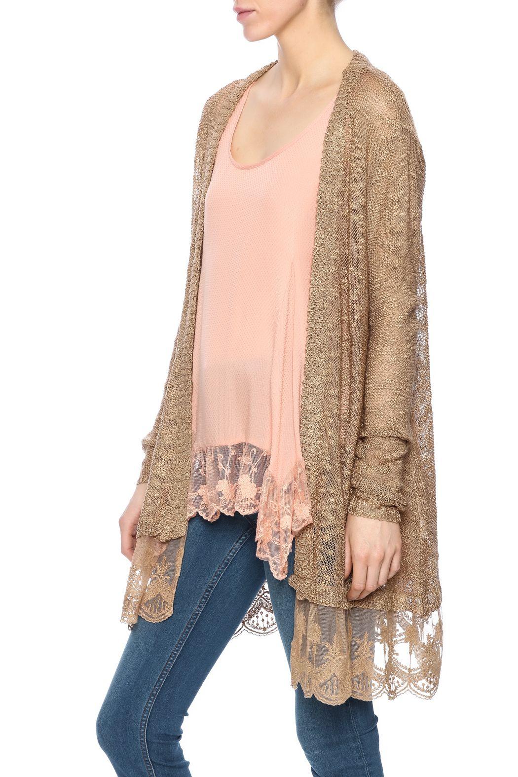 Nadya's Closet Lace Longline Cardigan | Longline cardigan and Boutique