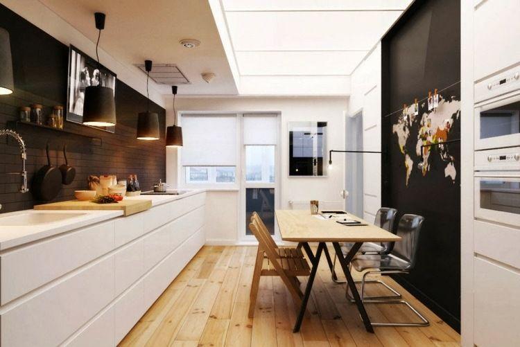Délicieux Cuisine En Longueur Amenagement #1: Aménagement Cuisine - 52 Idées Pour Obtenir Un Look Moderne