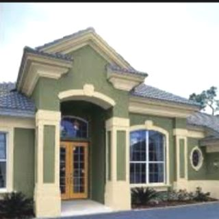 Love The Green Stucco Exterior Paint Colors For House Home