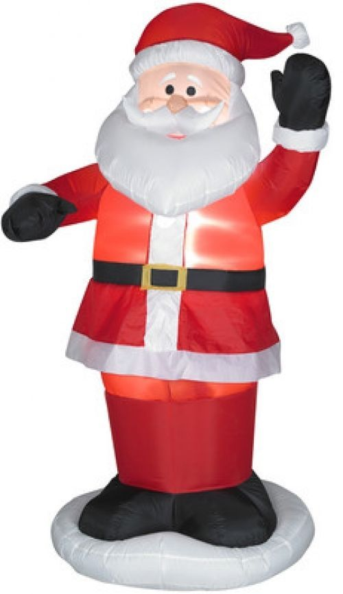 dancing santa standing yard inflatable christmas animated outdoor decoration gemmyindustries - Christmas Animated Decorations