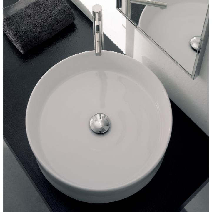 Round White Ceramic Vessel Sink In 2020 White Ceramics Ceramic Sink Ceramic Vessel