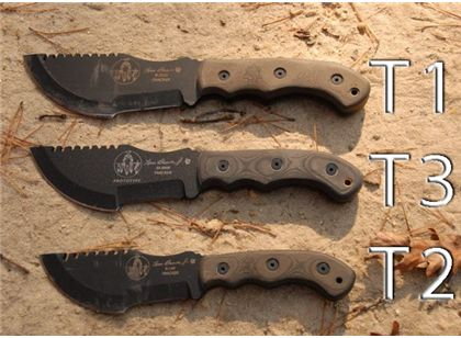 Tom Brown Tracker Knife The T3 Is Exactly Midway Between The Size Of A T1 And T2 A Knife That Can Be Used For All Survival Knife Tactical Knives Guns Bullet
