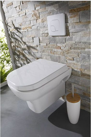 Déco WC design avec une cuvette wc suspendu | Pinterest | Hall