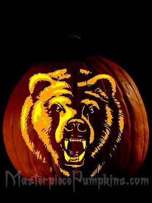 Grizzly Bear Printable Pumpkin Carving Patterns Native American