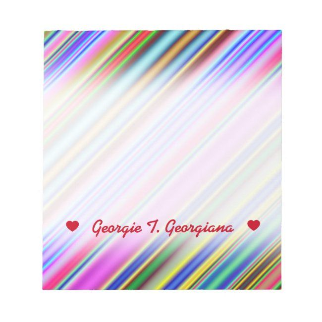 Vibrant & Eyecatching Multicolored Stripes Pattern Notepad #Ad , #Ad, #Multicolored#Stripes#Pattern#Eyecatching