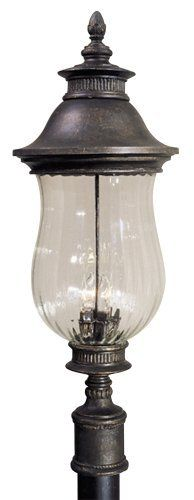 Newport Collection 33 High Post Mount By Minka Lavery 259 91 A Traditional Elegance Inspires This Outdoor Post Mo Outdoor Post Lights Lamp Post Lights Glass Aluminium