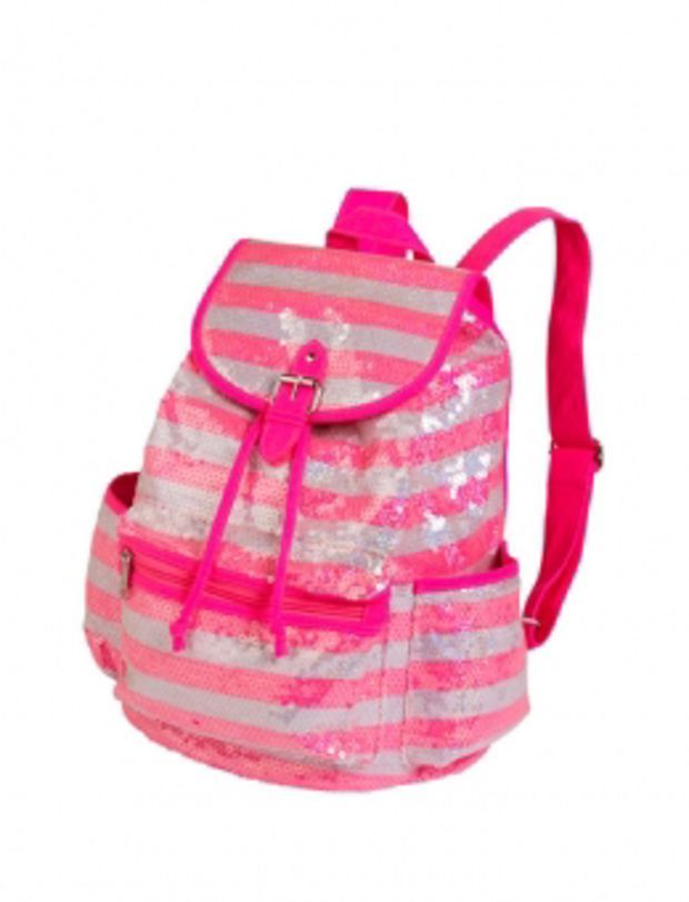 Small Sequin Stripe Rucksack | Girls Fashion Bags & Totes Accessories | Shop Justice