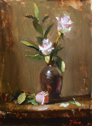 Pretty Pinks by Kelli Folsom Oil ~ 12 x 9