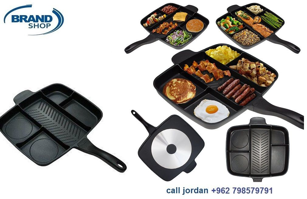 Magic Pan With Dividers Non Stick Magic Pan With Dividers 5 In 1 Magic Pan Innovative Cookware Cooking Meat Aluminium Design