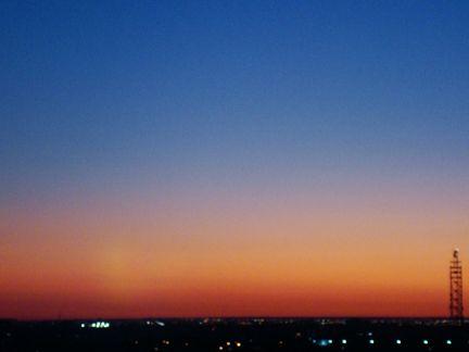 setting sun colours