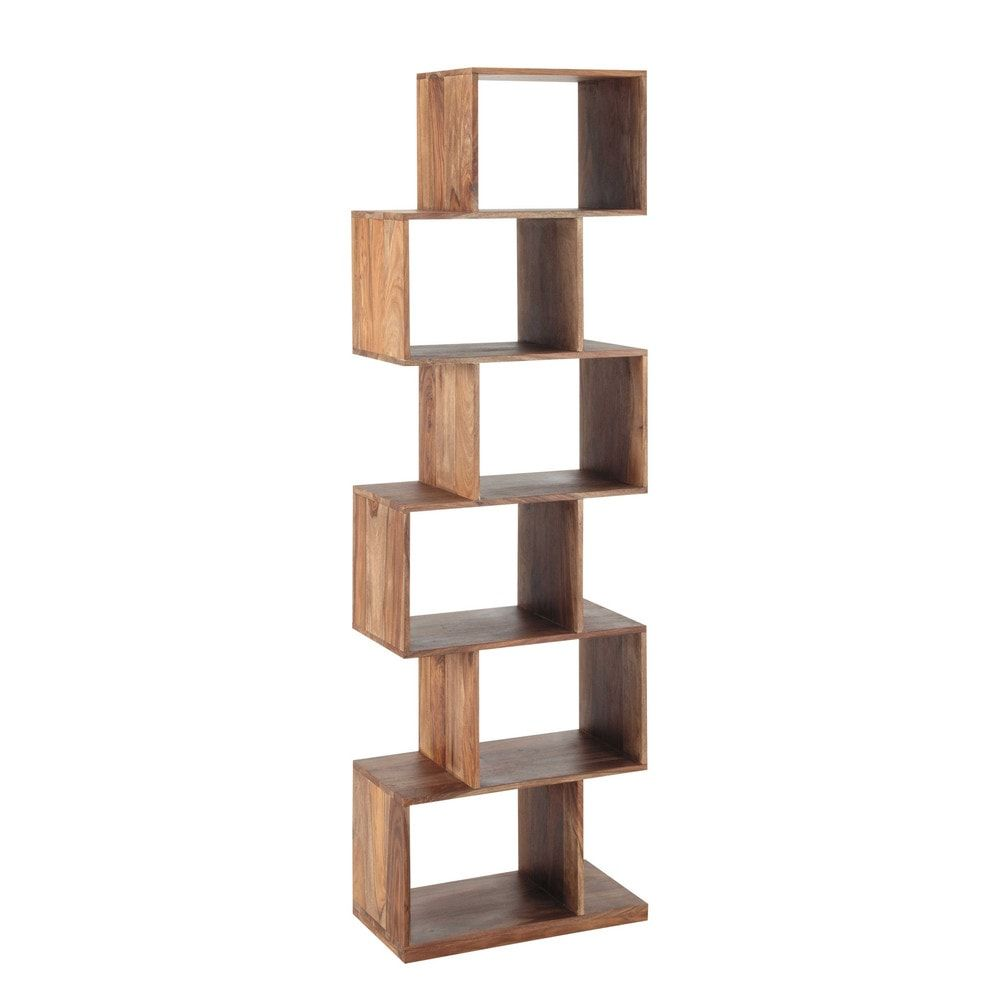 Etagere Destructuree 6 Cases En Sheesham Massif Affordable