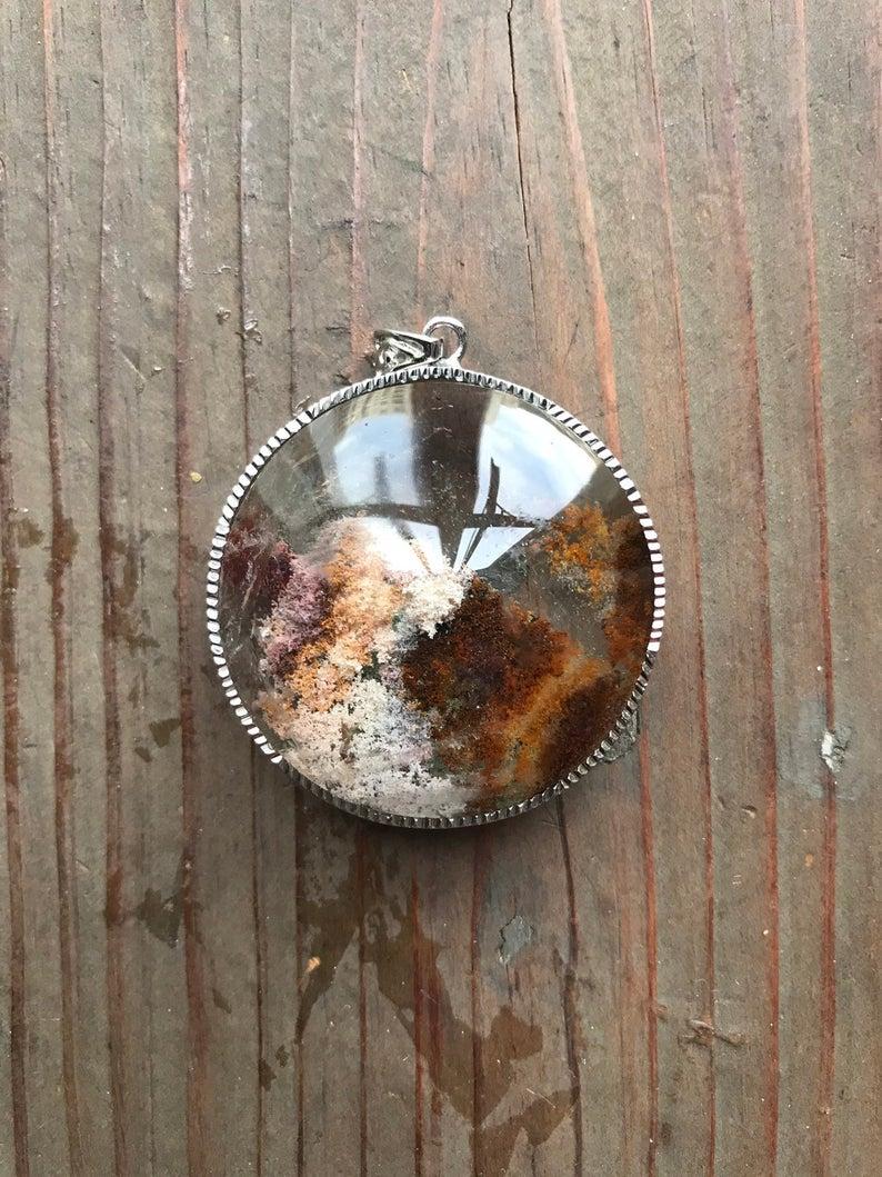 Natural Lodalite Quartz Pendant