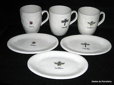 RAE DUNN MAGENTA INC SIX Mugs \u0026 SIX Plates Bumble Bee Dragonfly Ladybug & RAE DUNN MAGENTA INC SIX Mugs \u0026 SIX Plates Bumble Bee Dragonfly ...