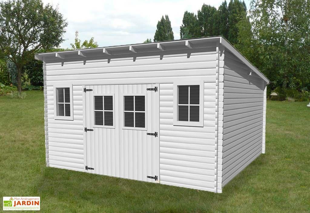 abri de jardin en bois avec toiture 1 pente 400x400cm sens au choix jardins en bois abris. Black Bedroom Furniture Sets. Home Design Ideas