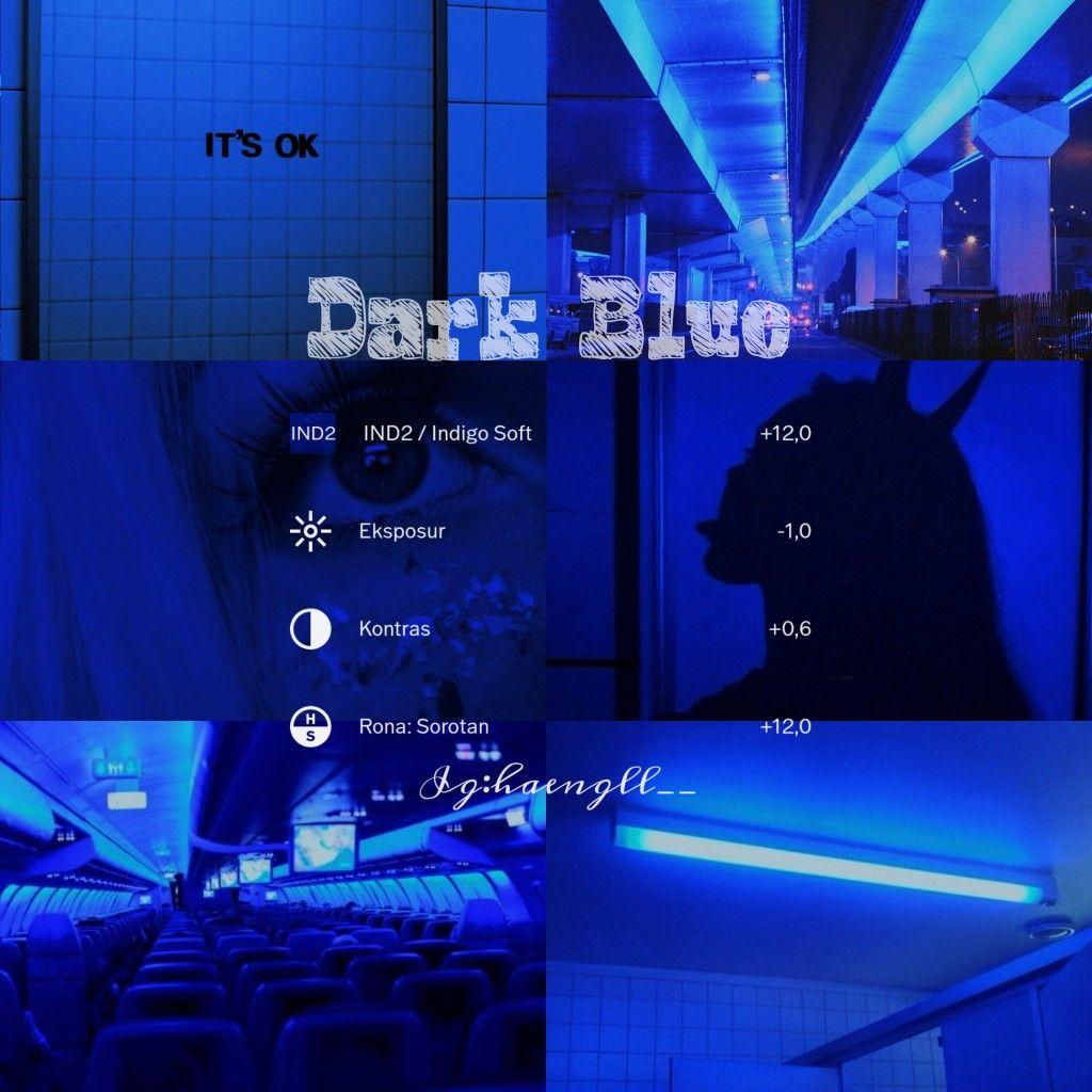 Vsco Aesthetic Filter Dark Blue Vsco Filter Blue Aesthetic Filter Photo Editing Vsco