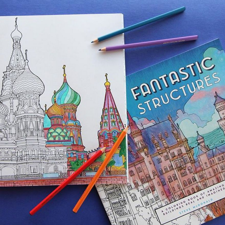 Incredibly Detailed New Architectural Coloring Book
