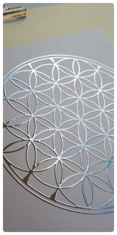 Flower of life art print on foil sacred geometry art design paper