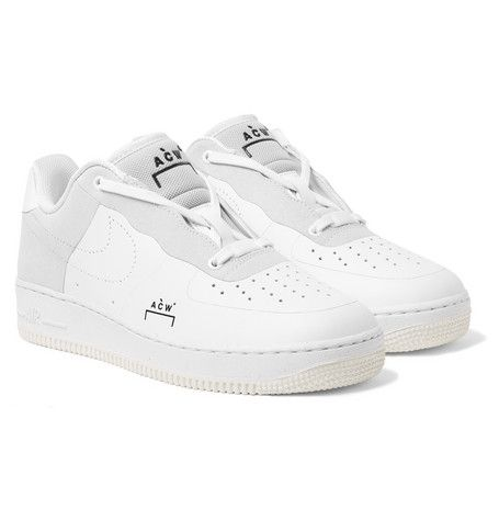 new style 8121a 587d7 NIKE + A-COLD-WALL  AIR FORCE 1 LEATHER AND SUEDE SNEAKERS -