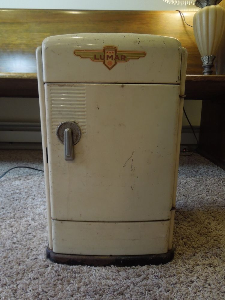 Vintage 1950s Lumar Marx Metal Toy Refrigerator Ice Box Mini-Fridge ...