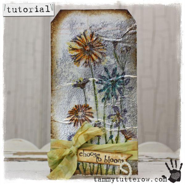 tammytutterow tutorial: watercolor on foil