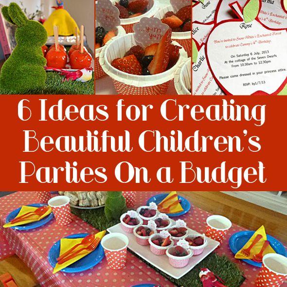 Budget Children S Birthday Party Ideas Budget Birthday