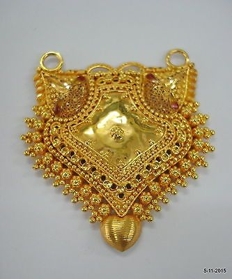 20k gold pendant necklace hanmade gold jewellery vintage tribal