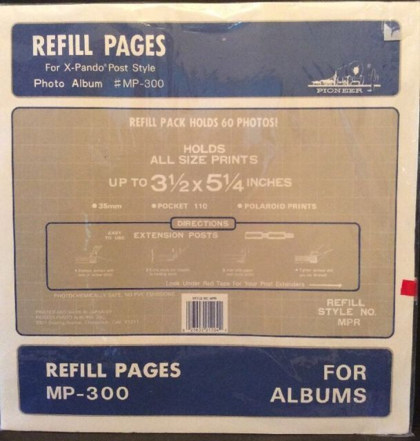 Pioneer Refill Pages For The Mp 300 Post Bound Photo Album 35x525