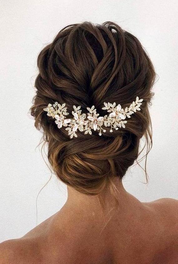 Bridal Hair Vine Rose gold Wedding Hair piece Bridal hair | Etsy