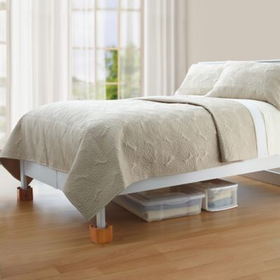 Buy Mahogany Wood Bed Lifts Set Of 4 From Bed Bath Beyond