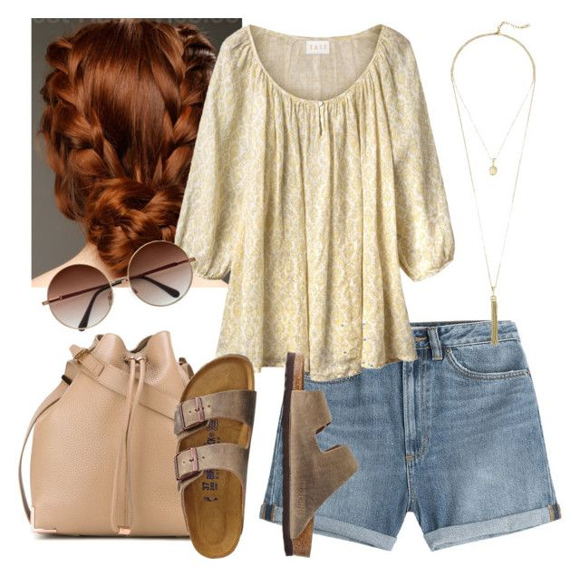 """""""Bucket Shoulder Bag and Linen Gauze Blouse"""" by arrowlily on Polyvore featuring Marc by Marc Jacobs, Alexander Wang, EAST, TravelSmith and Cole Haan"""