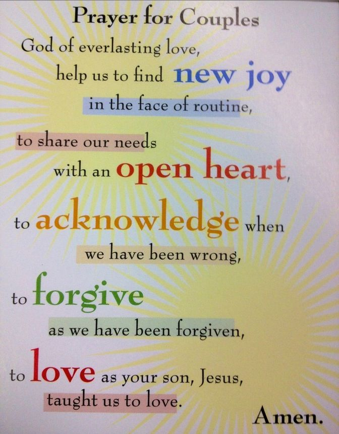 Prayer for couples to stay together