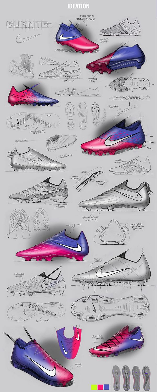 Nike Guante Soccer Boot On Behance Shoe Design Sketches Sneakers Sketch Soccer Boots