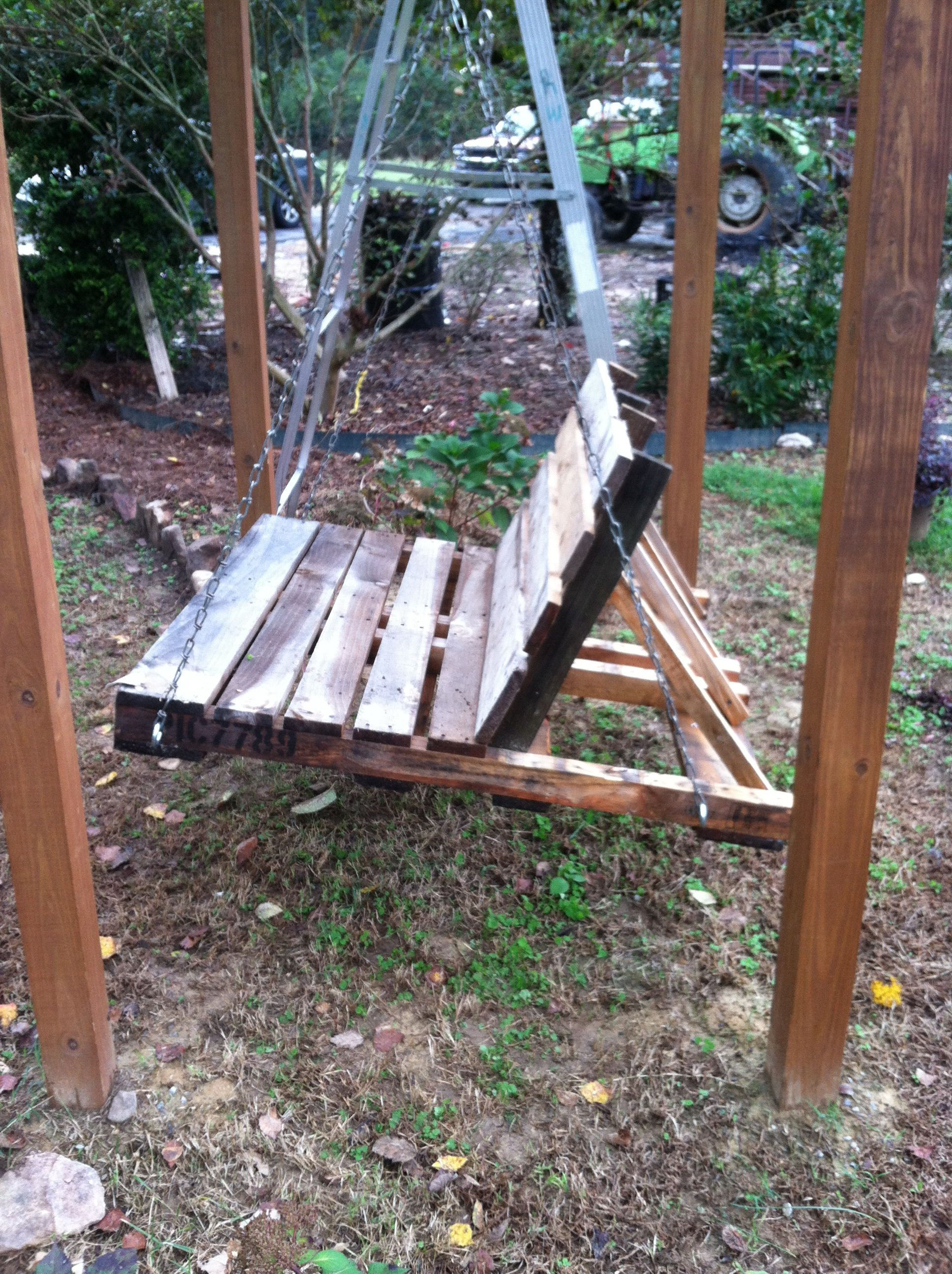 Swing Made Out Of Pallets